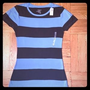 Old Navy Lt. Blue/ Charcoal Stripe SS Tee BN Sz S